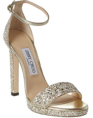 Jimmy Choo Misty 120 Glitter Sandal