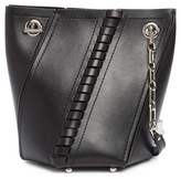 Proenza Schouler Hex Whipstitch Leather Bucket Bag - Black