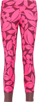 adidas by Stella McCartney Studio printed stretch-jersey and mesh leggings