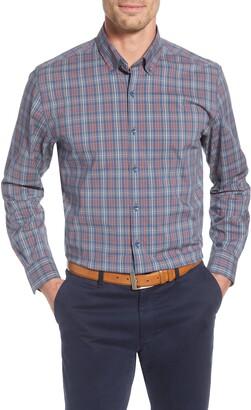Cutter & Buck Soar Classic Fit Plaid Performance Button-Down Shirt