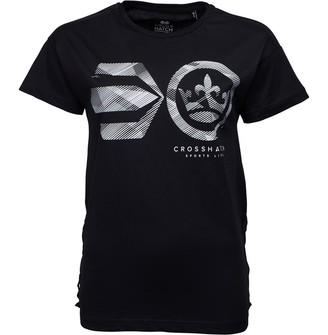 Crosshatch Womens Annabelle T-Shirt Black Beauty