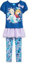 Disney Disney's Frozen Little Girls' 2-Pc. Graphic-Print Tunic & Leggings Set