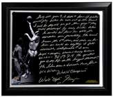 """Steiner Sports New York Knicks Walt Frazier The Willis Reed Game Facsimile 22"""" x 26"""" Framed Stretched Story Canvas"""