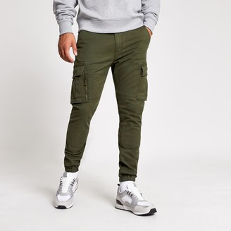 Superdry Mens River Island Khaki utility trousers