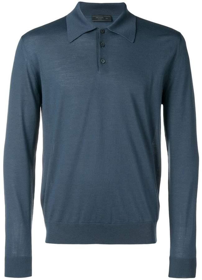 Prada long sleeve polo shirt