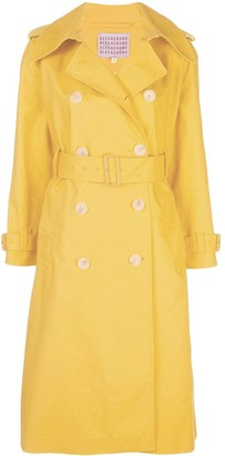 ALEXACHUNG Mid-Length Trench Coat