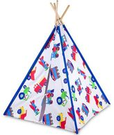 Olive Kids Trains, Planes and Trucks Canvas Teepee in Blue