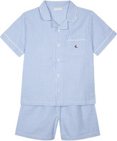 The Little White Company Sail boat motif seersucker pyjamas 6-12 years