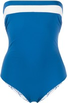 Marysia Swim strapless stripe swimsuit