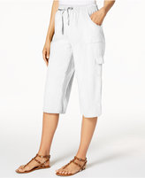 Karen Scott Edna Cotton Capri Pants, Only at Macy's