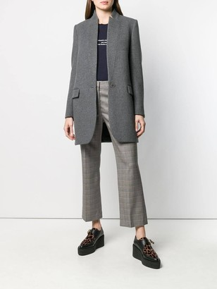 Stella McCartney Grey Inverted Lapel Blazer