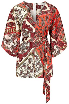 Bishop + Young Petra Kimono Sleeve Romper (Petra Print) Women's Jumpsuit & Rompers One Piece