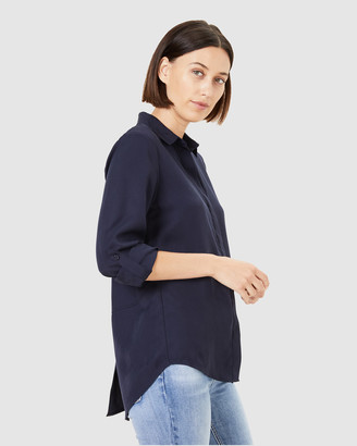 French Connection Women's Shirts & Blouses - Soft Lyocell Shirt - Size One Size, 14 at The Iconic