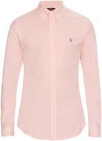 Polo Ralph Lauren Slim-fit long-sleeved cotton-blend shirt