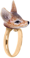 Nach Mini Fox Adjustable Porcelain Ring