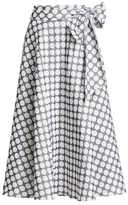 ML Monique Lhuillier Polka Dot Wrap Skirt