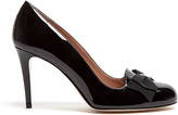 RED Valentino Patent Black Bow Detail Court Shoe