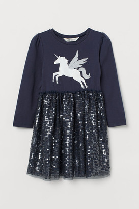 H&M Dress with Sequins - Blue