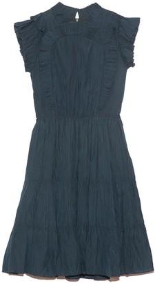 Sea Nadja Flutter Sleeve Dress in Pine
