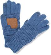 Dark Denim Patch Touch Screen Gloves