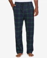 Nautica Men's Tartan Plaid Lightweight Sueded Fleece Pajama Pant