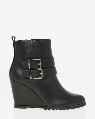 Le Château Faux Leather Almond Toe Ankle Boot
