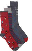 Lucky Brand Ski Crew Socks - 4 Pack - Men's
