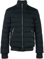 Emporio Armani zip up down jacket - men - Cotton/Feather Down/Polyamide/Wool - S