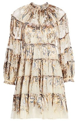 Zimmermann Ladybeetle Tiered Mini Dress