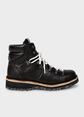 Paul Smith Men's Black Leather 'Ash' Hiking Boots