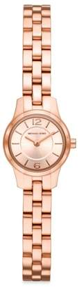 Michael Kors Petite Runway Stainless Steel Bracelet Watch