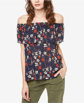 Sanctuary Misha Printed Off-The-Shoulder Flounce Top