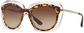 Dolce & Gabbana DG4282 Gradient Oval Sunglasses