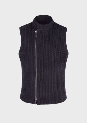 Giorgio Armani Quilted, Suede Gilet