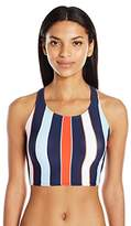 Tommy Hilfiger Women's Speedy Stripe High Neck Bikini Top with Racer Back
