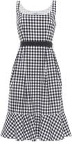 Blumarine Gingham Ruffle Dress