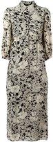 Saint Laurent floral print shirt dress - women - Silk/Viscose - 38
