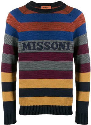 Missoni Logo Striped Sweater
