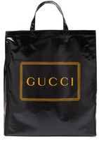 Gucci Logo-print Coated-canvas Tote Bag - Mens - Black