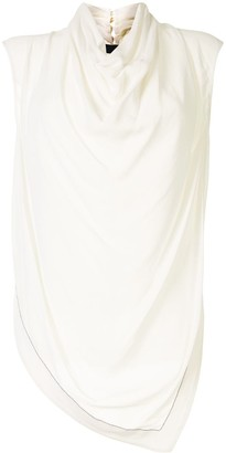 Proenza Schouler Cowl-Neck Sleeveless Blouse