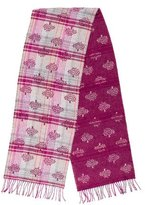 Mulberry Cashmere-Blend Patterned Scarf