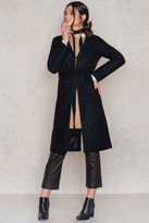 Collarless Wool Coat