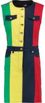 Love Moschino Color-Block Cotton-Twill Mini Dress