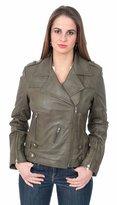A1 FASHION GOODS Ladies Latest Fitted Genuine Leather Biker Jacket Beverly