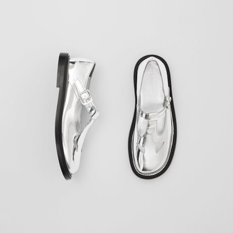 Burberry Metallic Patent Leather T-bar Shoes
