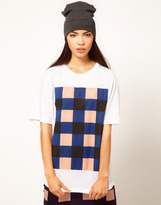Danielle Scutt T-Shirt with Check Print
