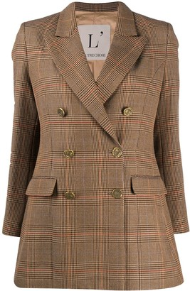 L'Autre Chose Houndstooth Double-Breasted Blazer