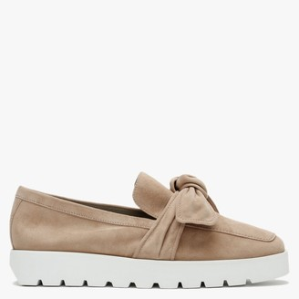 Kennel + Schmenger Nina Beige Suede Knotted Loafers
