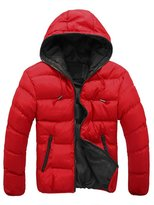 Yinhan YH Men's Hooded Down Jacket Candy Color Wool Coat Winter M