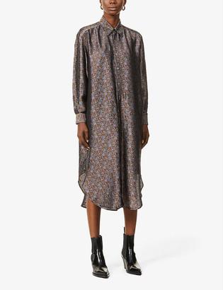 Rainmaker Floral-pattern jacquard midi dress